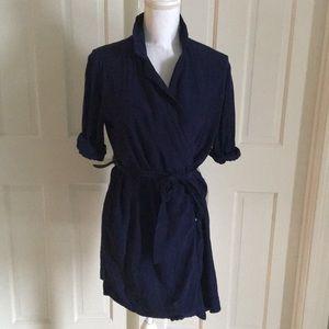 Top Shop Navy Wrap Dress